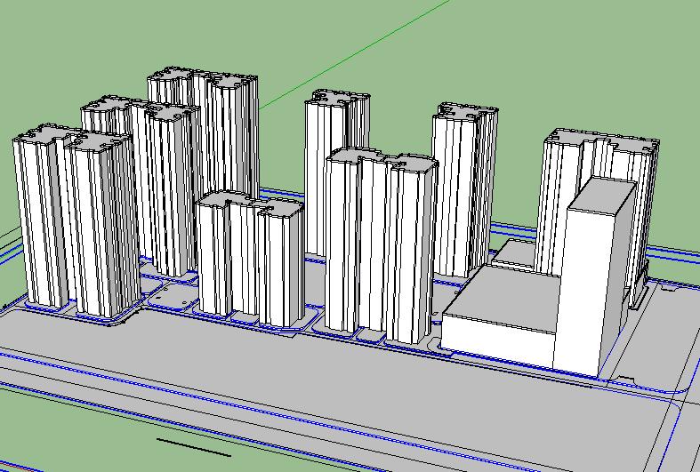 请教如何用sketchup有效率地批量制作高层住宅外立面效果